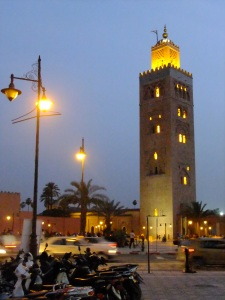 The tower of the Koutoubia Mosque, Marrakech.