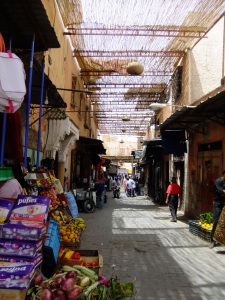 A typical alleyway in the Medina of Marrakech