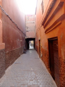 Tiny alleyways to get to the Riad...very strange in the dark!