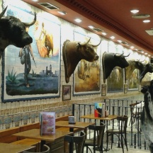 A load of bulls...restaurant in Madrid.