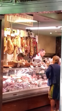 Jamon in Madrid.