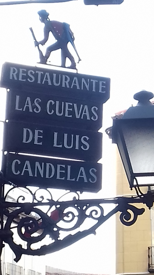 Restaurant sign, Madrid