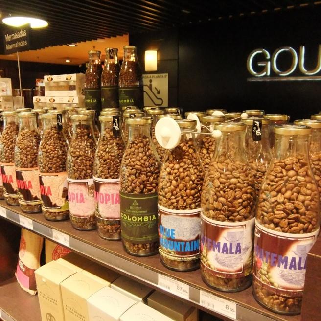 Coffee in El Corte Ingles, Madrid.